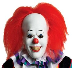 If you love a good scare you will find no other Mask better than this IT Pennywise Overhead Latex Mask with Hair! Put this latex stretch-for-comfort mask and become Pennywise the Dancing Clown,who terrorizes his prey by transforming himself int Clown Halloween Costumes, Wholesale Halloween Costumes, Halloween Costume Accessories, Spirit Halloween, Adult Halloween, Halloween 2016, Movie Costumes, Halloween Stuff, Halloween Crafts