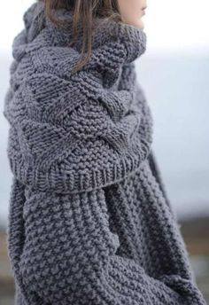 / beautiful scarf and sweater /