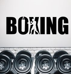Vinyl Wall Decal Boxing Boxer Gym Signboard Logotype Stickers (1939ig) Vinyl Wall Decals, Wall Sticker, Car Decal, Gym Slogans, Boxing Gym, Boxing Club, Boxing Gloves, Boxing Posters, Gym Logo