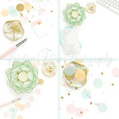 Mint and gold flatlay stock photos for blogs or small businessses marketing on instagram.  Use code SHOPSMALL150 for discount!  Instagram Bundle  Styled Stock Photography  by CristinaElisaImages #shopsmall150