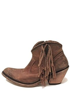 LIBERTY BLACK Fringe Zip Boot Vegas Faggio Womens Brown LB712320ABrown75M      Check out the 693b0f081d