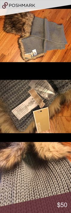 Michael Kors fur scarf with pocket Selling a brand new Michael Kors fur scarf with pockets inside fur part of scarf, Brand new with tags Michael Kors Accessories Scarves & Wraps