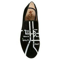 ClearoutSale Sam Edelman    NYC Subway Loafer The perfectly whimsy Sam Edelman Keller Loafer features an embroidered New York City subway map. Black and white. Smoking Slipper style. Velvet texture fabric. Snake texture detail on back. New. Size 6. Sam Edelman Shoes Flats & Loafers