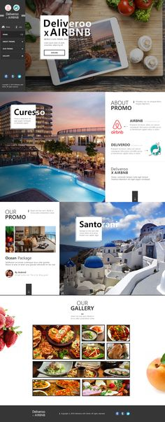 "Web Design Practice ""Deliveroo X Airbnb Promotion"""