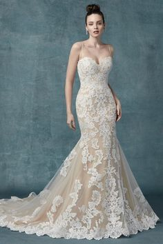 Maggie Sottero is one of the top designers in the business. We carry the full line of Maggie Sottero gowns and dresses for your entire bridal party. Western Wedding Dresses, Classic Wedding Dress, Perfect Wedding Dress, Bridal Dresses, Flattering Wedding Dress, Sottero And Midgley Wedding Dresses, Wedding Dress Pictures, Designer Wedding Gowns, Mermaid Dresses