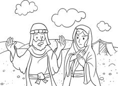 Abraham and Sarah Coloring Page Beautiful Abraham and Sarah Coloring Pages Free Free Bible Coloring Pages, Bear Coloring Pages, Coloring Books, Coloring Sheets, Abraham Und Lot, Abraham And Sarah, Bible Pictures, God Pictures, Black And White Dog