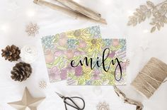 Personalized Stationery | Floral Notecards | Custom Stationery | Flower Stationary | Custom Notes | Personalized Thank You Cards by ELouiseDesigns on Etsy