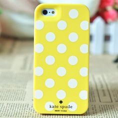 Kate Spade case for iphone 5 Polka Dots Yellow