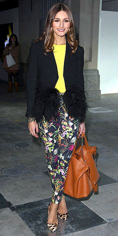 No, Olivia Palermo. You cannot just throw any random thing together and call it fashion. For an outfit to work, it has to fit well, be flattering, and there has to be a general flow, a one-ness to it. This is a random hot mess.
