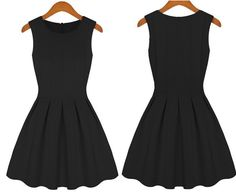 Princess Sleeveless Skater Tight Pleated Dress - Meet Yours Fashion - 2