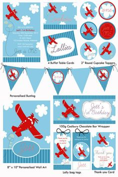 Plane Party Printable