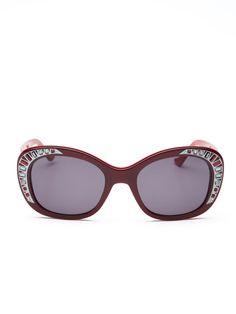 Crystal Cat Eye Frame by Judith Leiber Sunglasses
