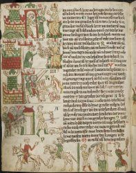 Page from the Heidelberg Sachsenspiegel Medieval Manuscript, Illuminated Manuscript, Der Richter, Law Books, Plantagenet, 14th Century, Middle Ages, Oeuvre D'art, Art Boards