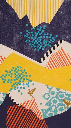 Japanese imported 55% linen/ 45% cotton Echino fabric designed by Etsuko Furuya for Kokka Fabrics.