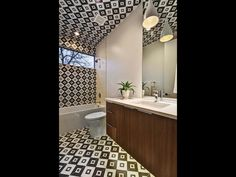 Fun bathroom with matching tile floor and ceiling 2003 De Verne St, Austin, TX 78704