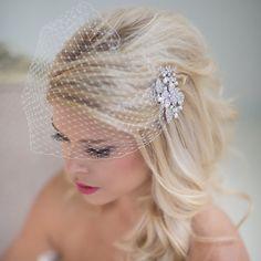 Birdcage Veil Wedding Veil Bridal Veil by PowderBlueBijoux on Etsy, $79.00