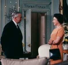 Queen Elizabeth's relationship with former British PM Harold Wilson was very unique, and we're about to see it portrayed like never before as The Crown season three premieres. Here, we dissect exactly why their work together was so significant. Queen Elizabeth And Margaret, Elizabeth First, Harold Wilson, The Crown Season, Royal Family News, Gordon Brown, Caroline Kennedy, British Prime Ministers, Queen Elizabeth