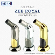 Meet the new ZEE ROYAL Series. A state of the art Luxury Butane Torches by Newport Zero  Get yours now from NewportButane.com Wholesale orders: sales@NewportButane.com  #ZeeRoyal #NewportZero #NewportButane #Newporttorch #newporttorches #Butane #Cigar #Torch #Lighter #premiumlighters #luxurycigars #goldeverything #productdesign #amazing #jewelry #jewelrydesign #elegant #classy #stayclassy #luxury #elegant #royal #stateofart #luxurylifestyle #luxurylife #luxuriouslife #luxurious #losangeles