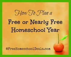 How To Plan a Free or Nearly Free Homeschool Year