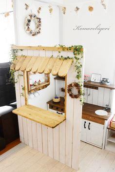 Garden cafe open in your garden? Image of Garden cafe open in your garden? Image of, Kids Play Kitchen, Toy Kitchen, Wooden Kitchen, Cubby Houses, Play Houses, Retro Furniture, Kids Furniture, Luxury Furniture, Toy Rooms