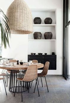 Dining Space Trend - Black Accents
