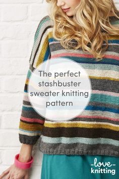 Worked in random stripes using yarn that can be substituted from your own stash, this is a truly creative knit! The pattern includes information on the shades and stripes used in the original, including exact quantities for each colour or you can make up your own! Find this pattern at LoveKnitting.Com.