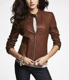 My new fall/winter jacket. It has a female fit, not quite leather but looks like it and for the price, it's a steal! Sassy yet classy!