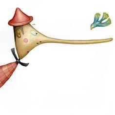 Pinocchio, Children's Book Illustration, The Little Mermaid, Folk Art, Fairy Tales, Dots, Drawings, Crafts, Children Books