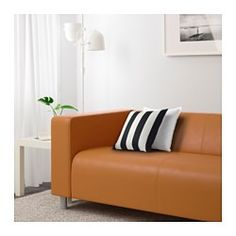 IKEA - KLIPPAN, Loveseat, The cover is easy to keep clean as it can be wiped with a damp sponge or a mild detergent.10-year limited warrranty. Read about the terms in the limited warranty brochure.