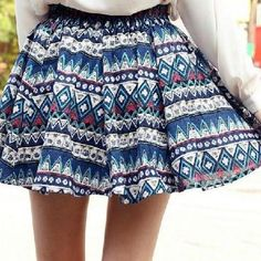 Fashion folk printed skirt