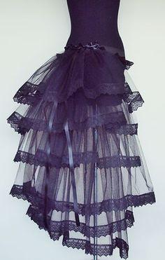 BLaCK BuRlesQue MouLiN RouGe BuStle Belt 6 8 10 12 Sexy Lace Steam punk Goth | eBay