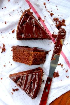 Classic Devi's Food Cake with Ganache Frosting