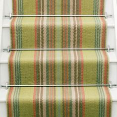 Designers and Makers of unique stripe runners, rugs and fabrics in natural fibres. Simply Luxury for Modern Living Carpet Runner, Ferns, Weaving, New Homes, Stairs, Stair Runners, Rugs, Green, Fabric