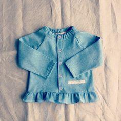 Veste en jeans fin / Denim jacket 12/18m