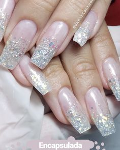 Glitters, French, Facebook, Nails, Beauty, Instagram, Fiberglass Nails, Finger Nails, French People