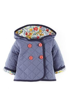 Mini Boden Quilted Jersey Jacket (Baby Girls) available at #Nordstrom