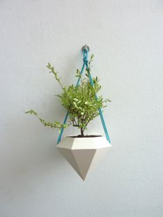 Diamond Hanging Planter by RawDezign on Etsy