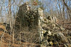 Ruins of the old Scotia Ironworks smelter, built in 1870. The short turn-off trail to the smelter is hard to see and blocked by downed trees. Scotia Ironworks smelter dnr.mo.gov...pdf