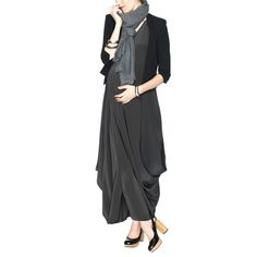 Soiree Dress Charcoal Silk, 240€, now featured on Fab.