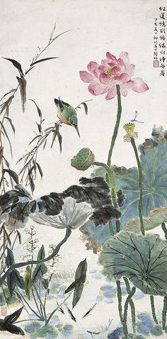 Painted by Lu Yifei (陸抑非, 1908-1997)