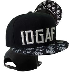 Stay Sick Clothing - IDGAF Black Snapback hat at MerchNOW