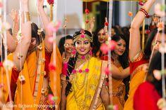 Indian Bride at Gaye Hould (Turmeric Ceremony) http://www.maharaniweddings.com/gallery/photo/82846