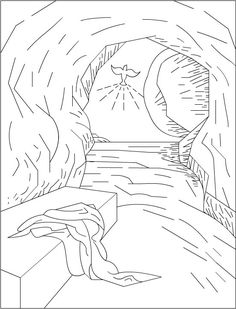 Empty tomb coloring sheet