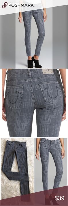 """True Religion Abbey Super Skinny Kewa Cross 13.5"""" Waist 9"""" rise 29"""" inseam Please see photos for all measure! Sorry I do not model/trade!! This item comes from a smoke free, pet friendly home!! No rips, holes or stains to note!! I ship Monday-Friday to ensure quick delivery (orders placed after 7am will not be processed until the following day). Orders placed Saturday/Sunday will not be processed until Monday morning :)! Thanks for shopping my closet True Religion Pants Skinny"""