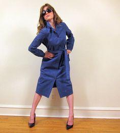 Vintage 1970s Halston Ultrasuede Dress in Blue by BasyaBerkman, $169.00