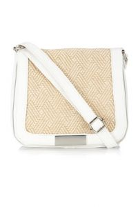 white straw bag