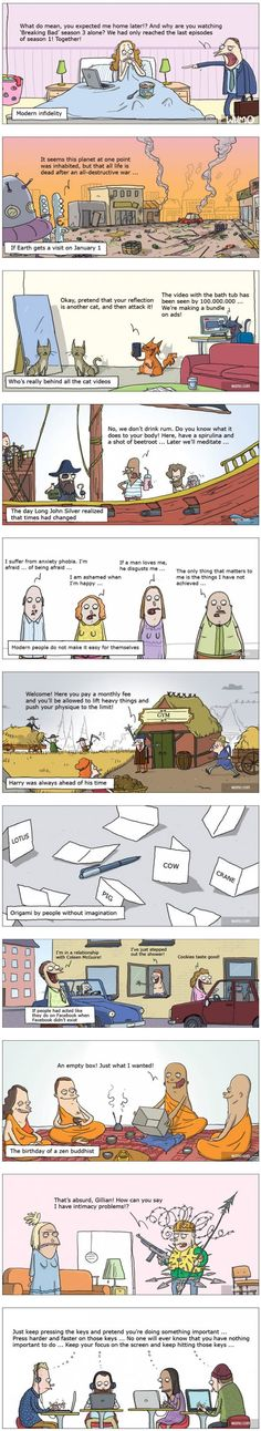 11 cartoons that remind us how crazy the modern world really is