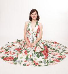 Vintage Summer Dress  80s Floral Dress  Summer by concettascloset, $98.00