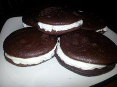 "If you're from Pennsylvania, you will definitely know what a Whoopie Pie is! Others refer to them as ""Gob Cakes."" No matter what ya call it, if you love chocolate,you'll love this treat! Every now and again, I'll walk into the grocery store and see whoopie pies for sale, I may grab some here and there, but they never taste like grandma's! So I decided to make some yesterday! My grandma's family is from Pa., and this recipe has been passed down a few generations now. Fresh, & home made, just…"