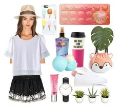 """my daily outfit"" by anoo17k ❤ liked on Polyvore featuring Abercrombie & Fitch, Brixton, MANGO, Too Faced Cosmetics, Minna Parikka, Improvements, Daniel Wellington, Victoria's Secret, Beauty Rush and Kate Spade"